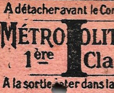 Ticket Métropolitain (02)