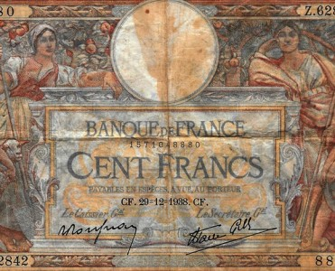 Billet de Banque Cent Francs