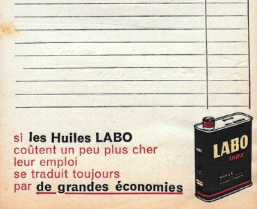 Bloc-notes Huiles Labo